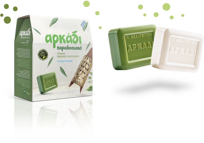 Arkadi Classic Green Soap bar, White Soap bar, Traditional Soap Flakes