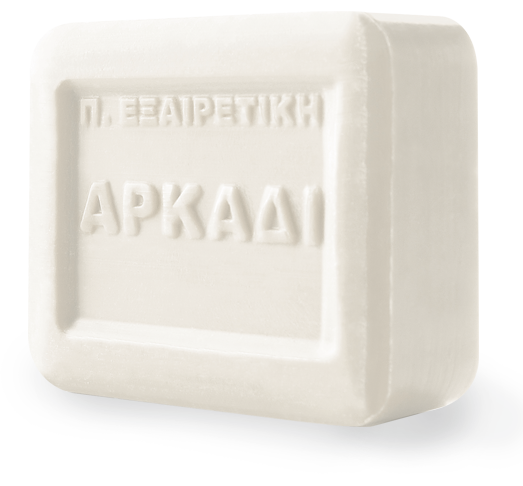 Αρκάδι κλασικό Λευκό Σαπούνι Πλάκα - Σαπωνοποιια Αρκαδι